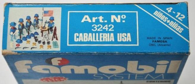 Playmobil 3242v2-fam - US Cavalry Set - Box