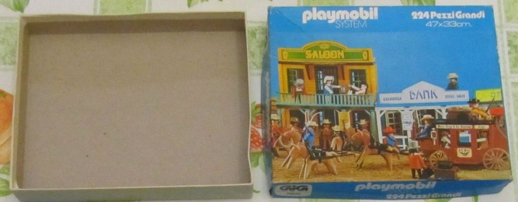 Playmobil 7805-ita - Western puzzle - Box