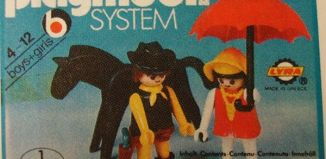 Playmobil - 3L92-lyr - Cow boy & lady with umbrella