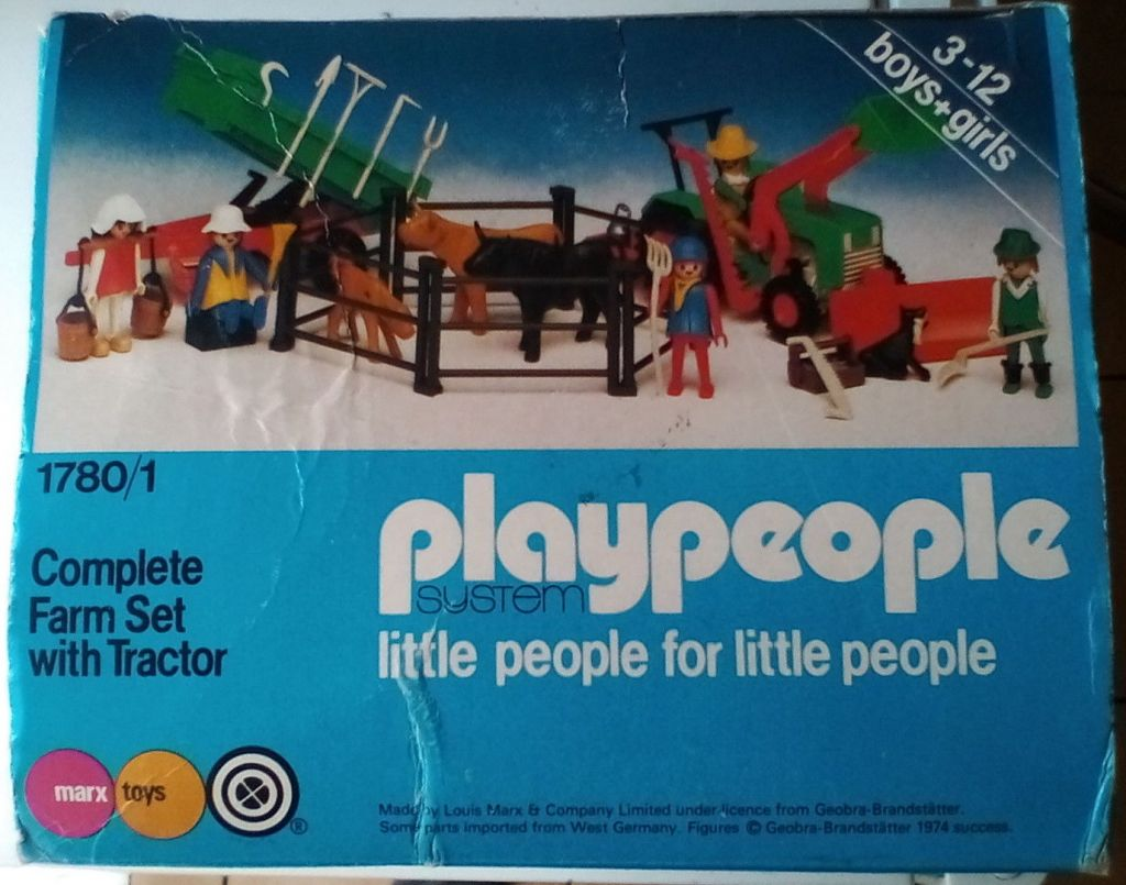 Playmobil 1780/1-pla - Complete Farm Set with Tractor - Box