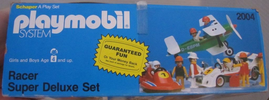 Playmobil 2004-sch - Racer Super Deluxe Set - Back