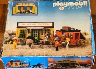Playmobil - 23.75.8-trol - Miners hotel & stage coach