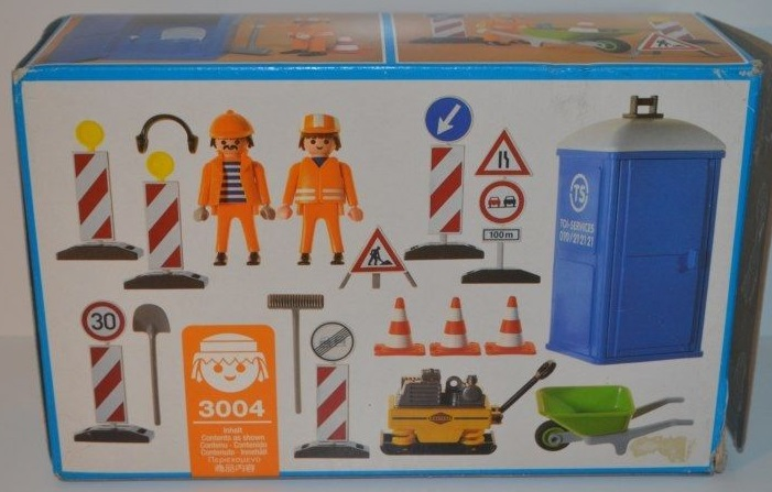Playmobil 3004 - Construction Workers - Back
