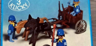 Playmobil - 3244s1v2 - Canon et avant-train d'artillerie US