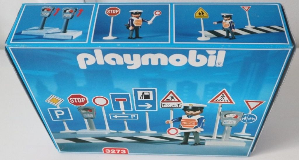 Playmobil 3273s2 - Traffic Signs With Police - Box