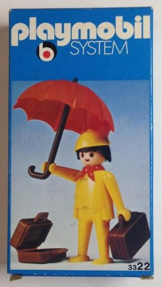 Playmobil 3322v1 - Man With Umbrella - Box