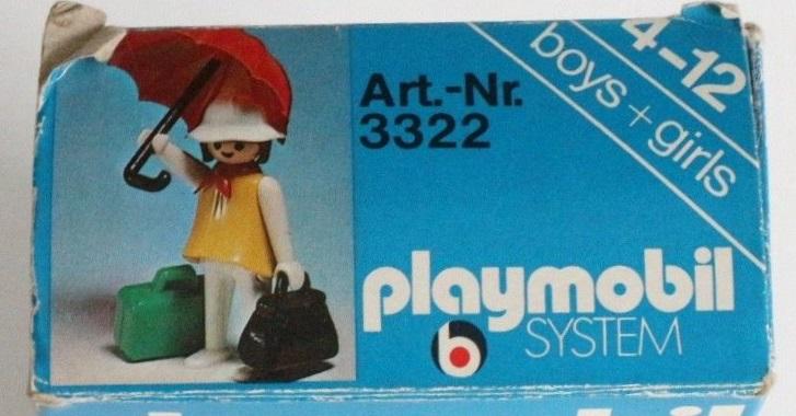 Playmobil 3322v2 - Woman with Umbrella - Box