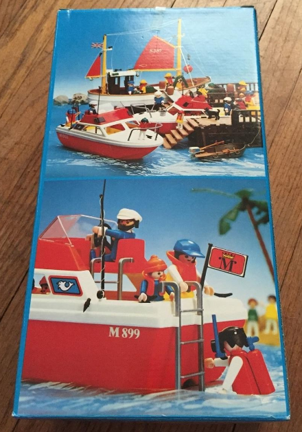 Playmobil 3498v1 - Cabin Cruiser - Back