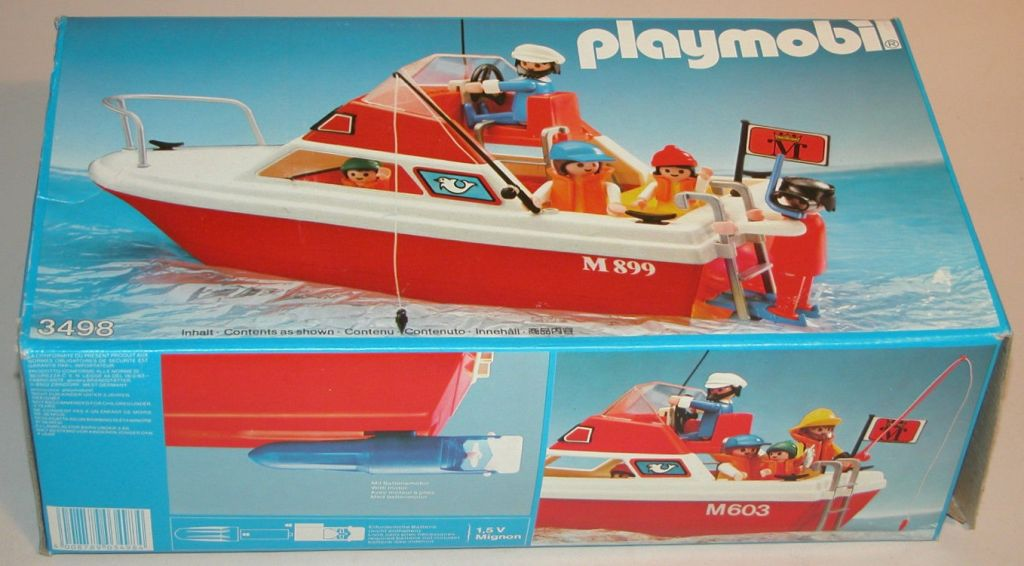 Playmobil 3498v2 - Cabin cruiser - Box