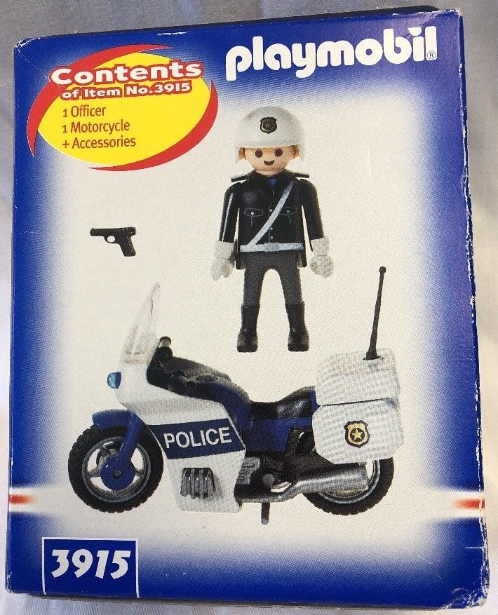 Playmobil 3915-usa - Police Motorcycle - Back
