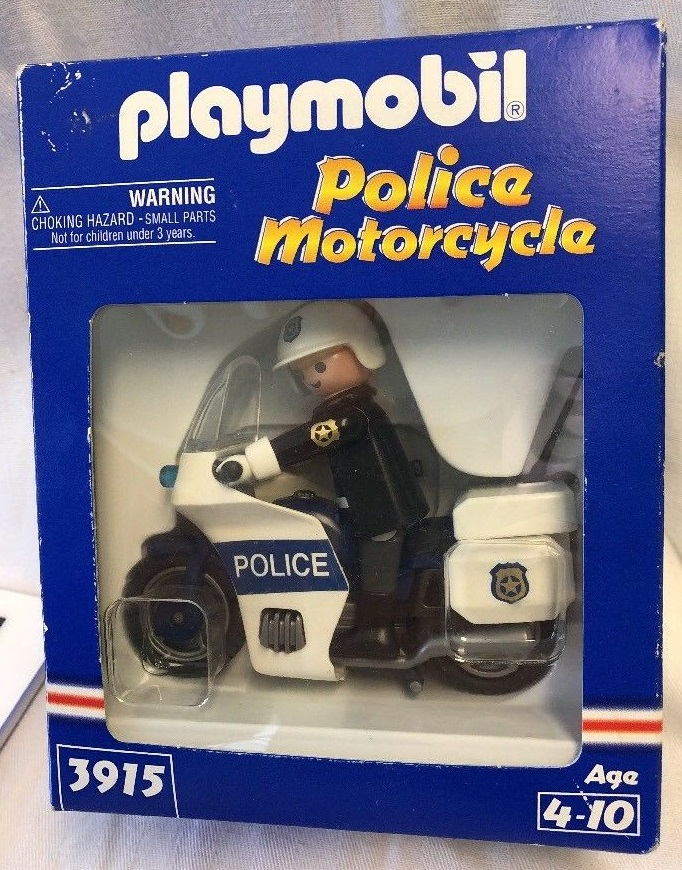 Playmobil 3915-usa - Police Motorcycle - Box