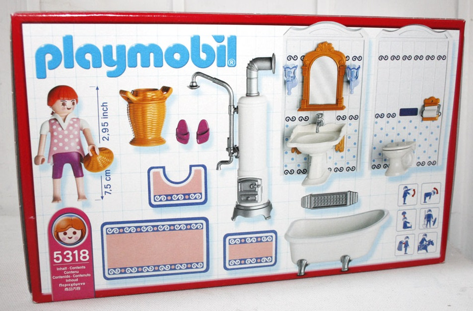 Playmobil 5318 - Bathroom - Back