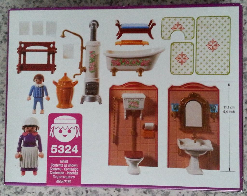 Playmobil 5324v2 - Bathroom - Back