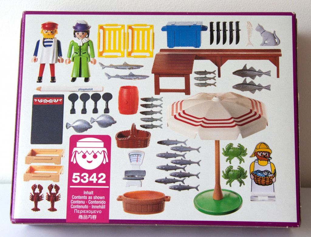 Playmobil 5342 - Fish Stand - Back
