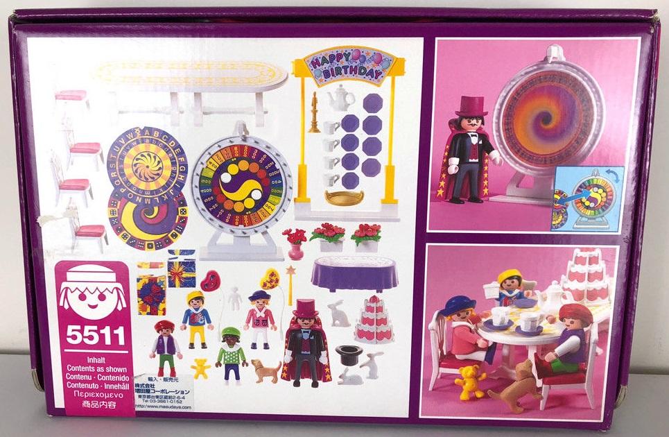 Playmobil 5511v1 - Children's Birthday Party - Back