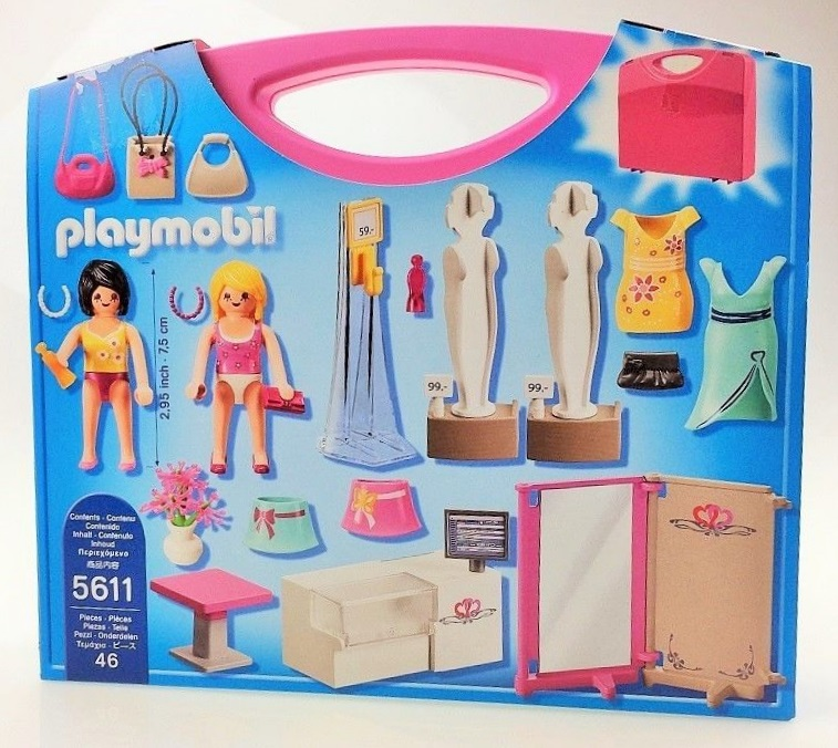 Playmobil 5611 - Carrying Case Shop - Back