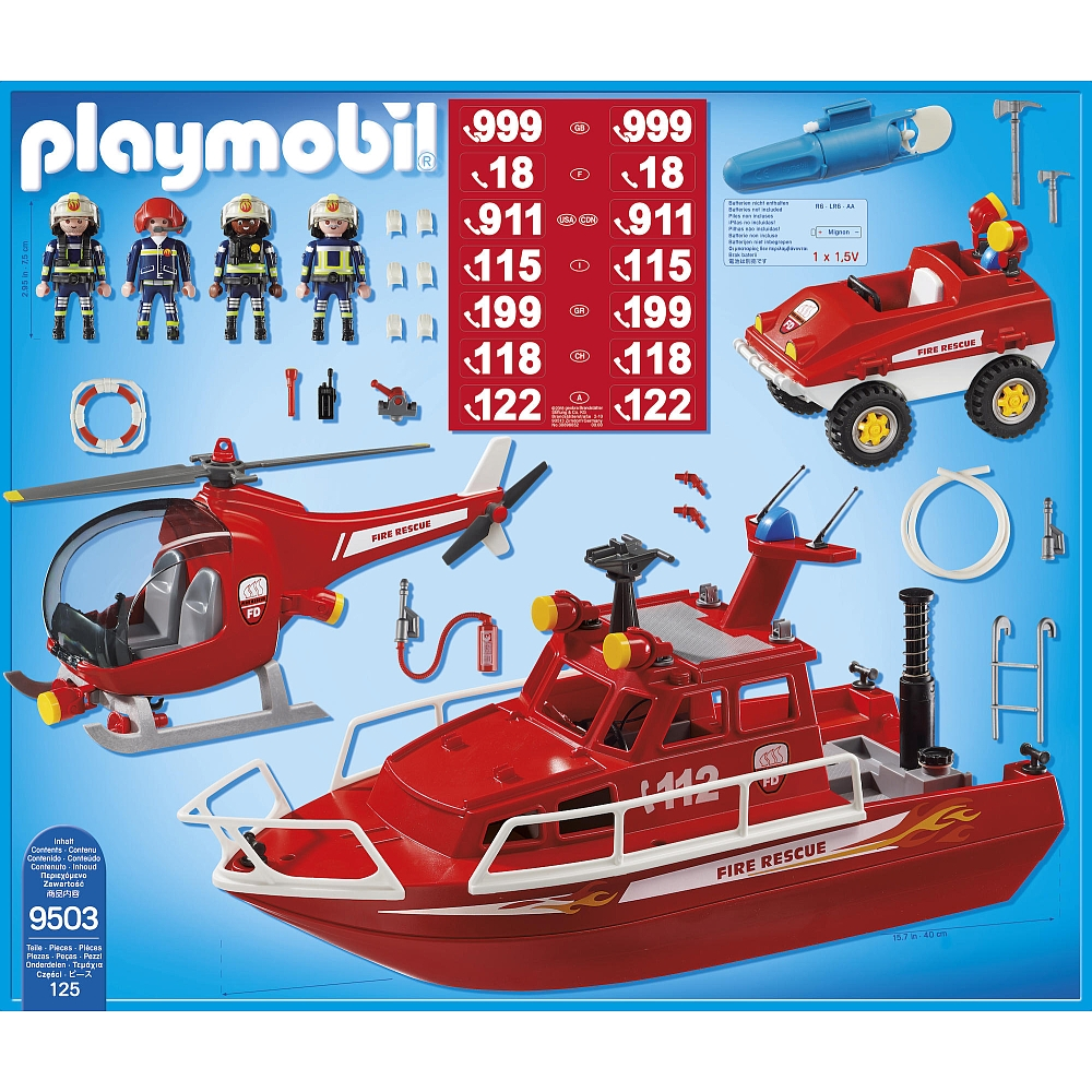 Playmobil 9503 - Fire Group - Back