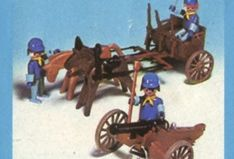 Playmobil - 3244-ant - US artillery cannon and cart