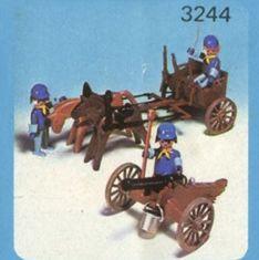 Playmobil - 3244-ant - Canon et avant-train d'artillerie US