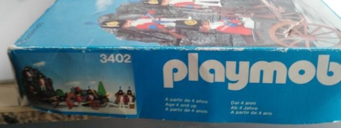 Playmobil 3402-esp - Redcoats with artillery train - Box