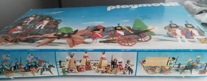 Playmobil 3402-esp - Redcoats with artillery train - Back