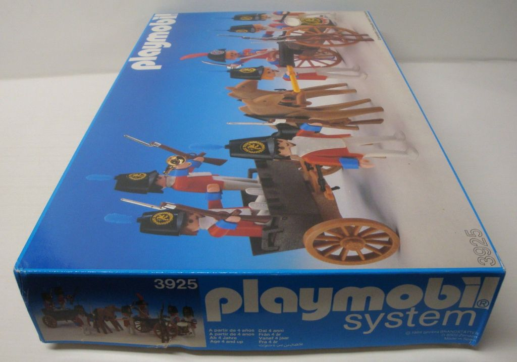 Playmobil 3925-esp - Redcoats with artillery train - Box