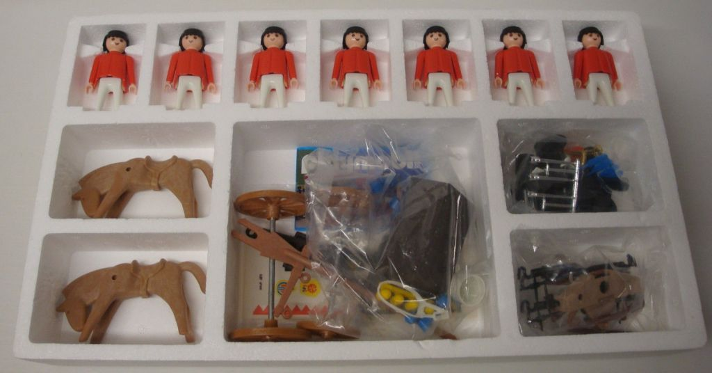 Playmobil 3925-esp - Redcoats with artillery train - Back