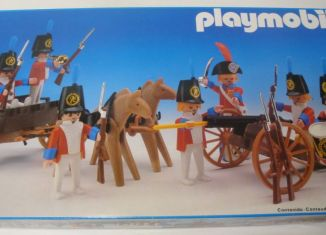 Playmobil - 3925-esp - Redcoats with artillery train