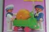 Playmobil - 5402-esp - Kinder mit Handwagen und Kürbis