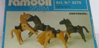 Playmobil - 3270v1-fam - 4 Horses