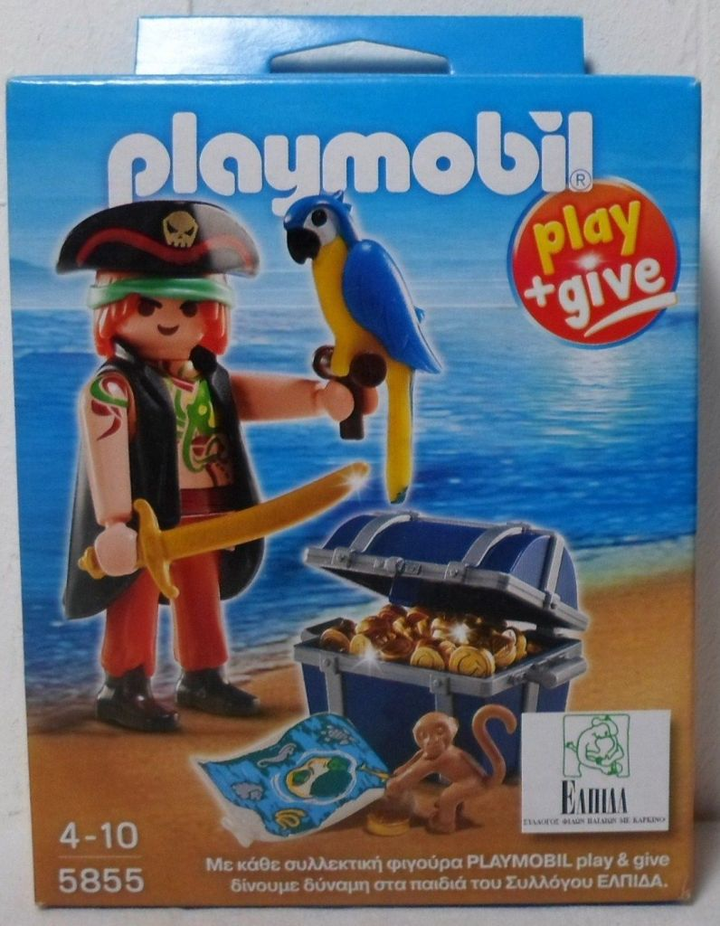 Playmobil 5855-gre - Pirate with parrot - Box