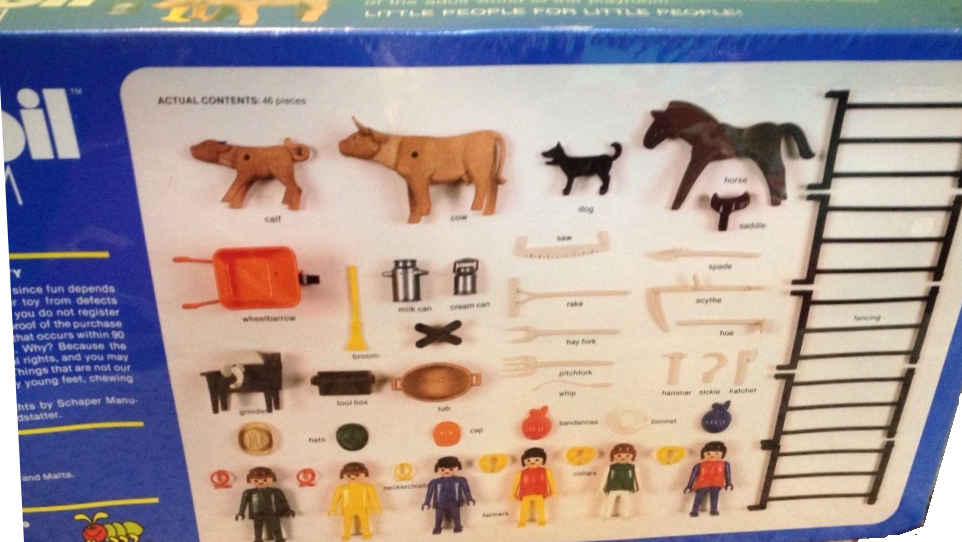 Playmobil 090-sch - Farmers Deluxe Set - Back