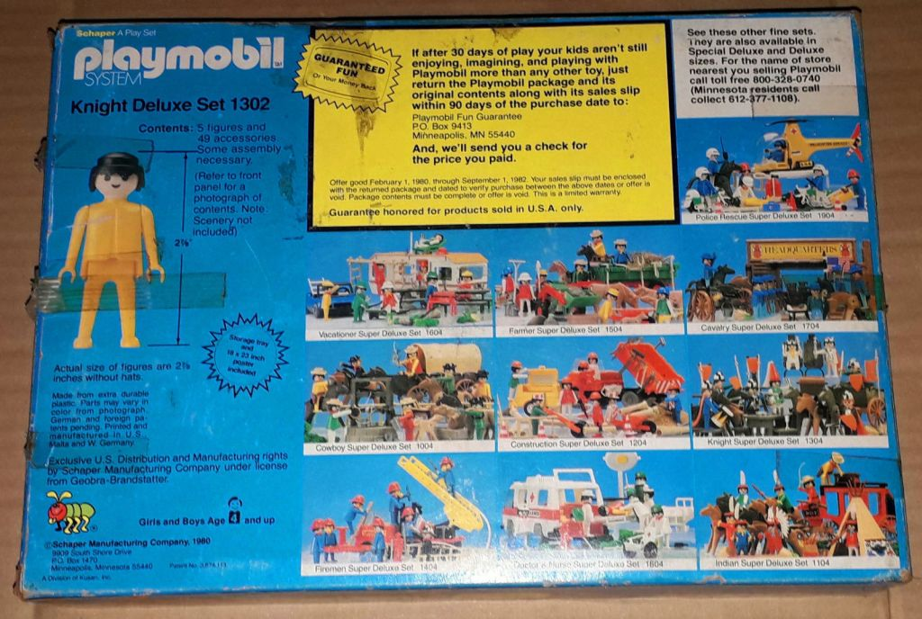 Playmobil 1302v1-sch - Knight Deluxe Set - Back
