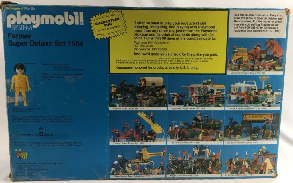 Playmobil 1504v2-sch - Farmer Super Deluxe Set - Box