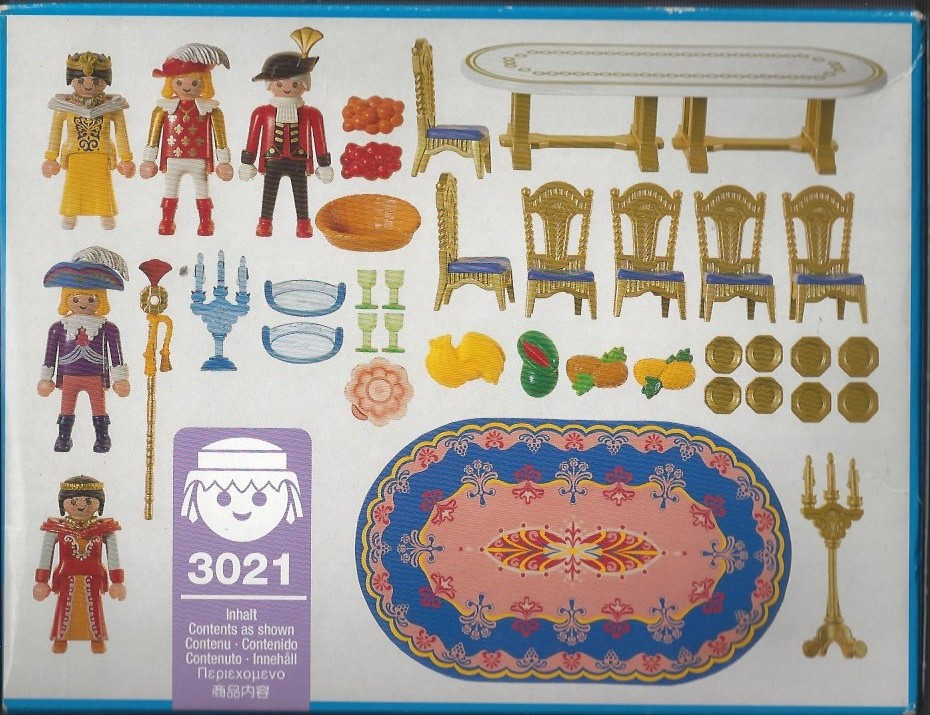 Playmobil 3021 - Festive Round Table - Back