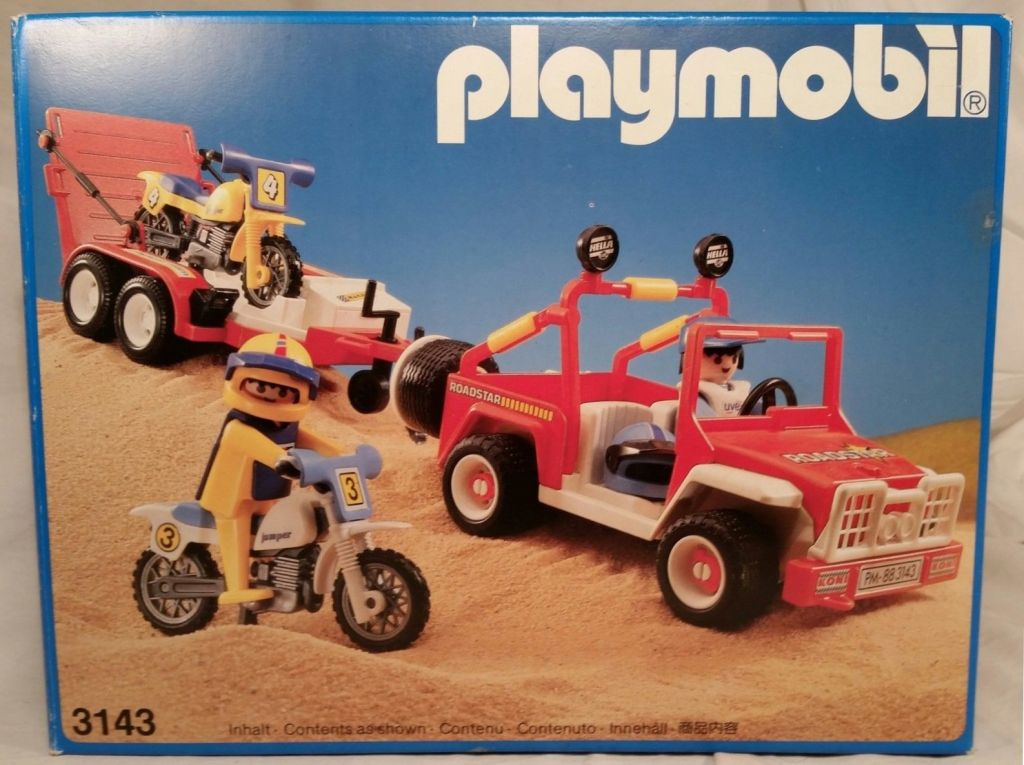 Playmobil 3143v1 - Jeep with dirtbikes - Box