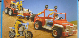 Playmobil - 3143v2 - Jeep with dirtbikes