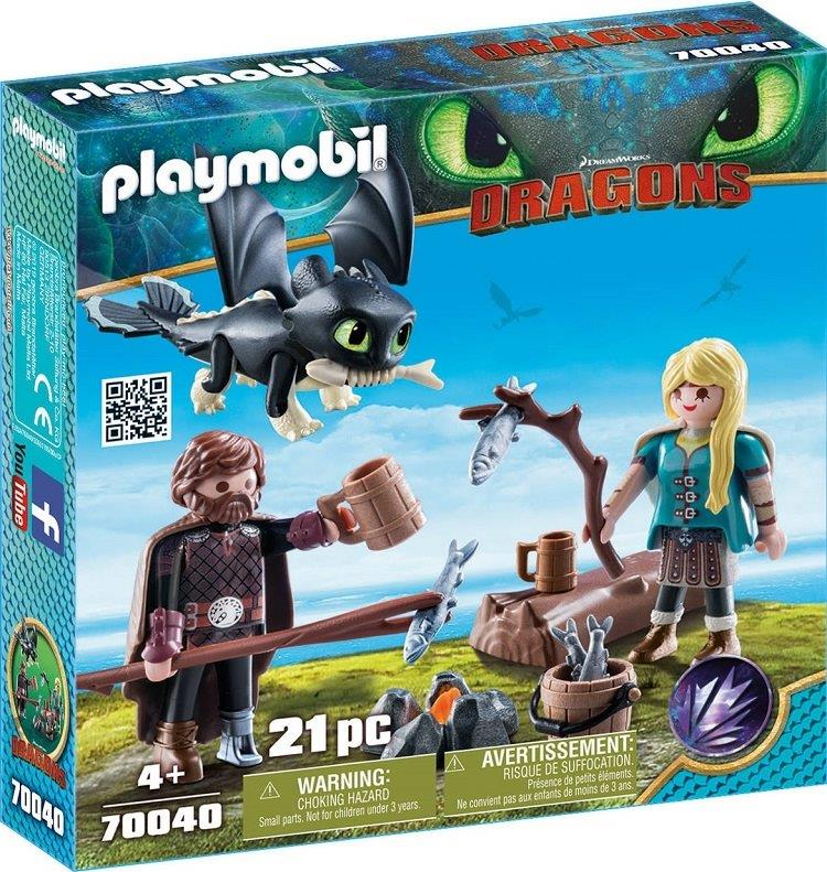 Playmobil 70040 - Hiccup and Astrid with Baby Dragon - Box