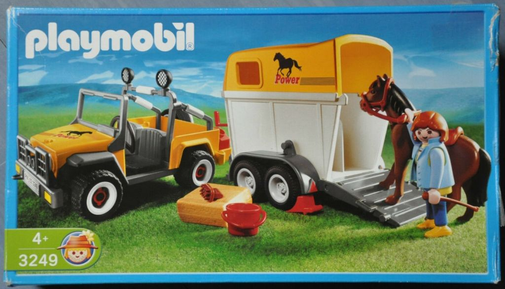 Playmobil 3249s2 - Jeep with trailer & horse - Box