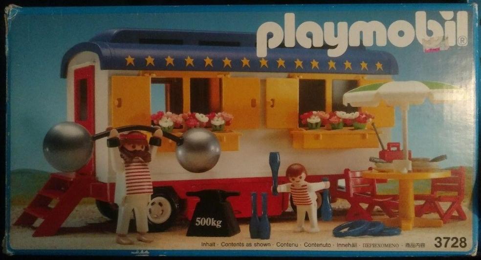 Nieuw Playmobil Set: 3728 - Strongman's Trailer - Klickypedia CF-42