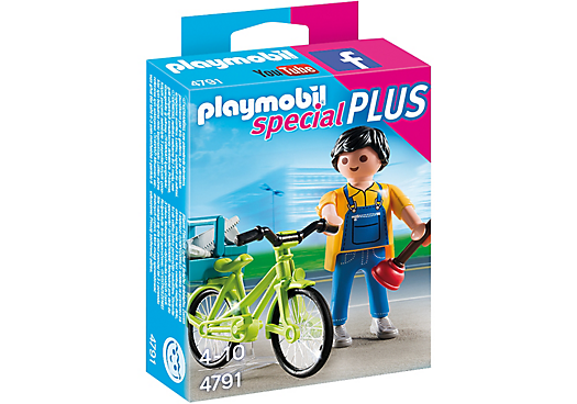Playmobil 4791 - Plumber with bicycle - Box