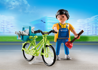 Playmobil - 4791 - Plumber with bicycle