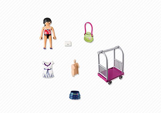 Playmobil 4792 - model dresses cart - Back