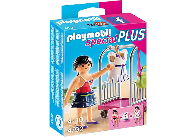 Playmobil 4792 - Model mit Kleiderwagen - Box