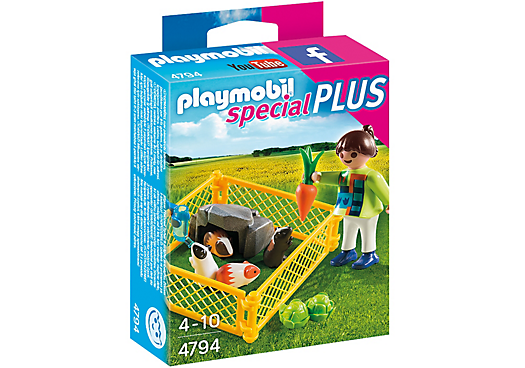 Playmobil 4794 - Girl with Guinea Pigs - Box