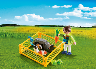 Playmobil - 4794 - Girl with Guinea Pigs