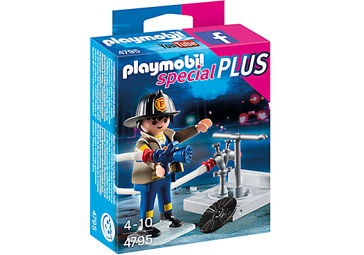 Playmobil 4795 - Firefighter with fire hydrant - Box
