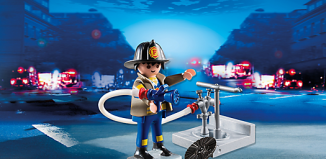 Playmobil - 4795 - Firefighter with fire hydrant