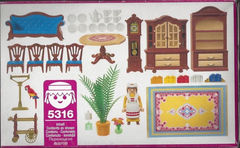 Playmobil 5316 - Blue Dining Room - Back