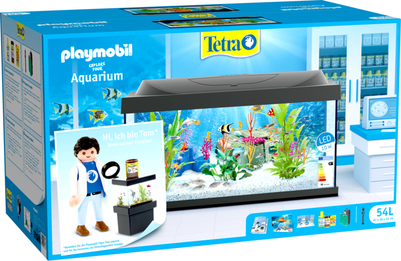 Playmobil 54L-ger - Tom (Ichthyologist scientist) - Box